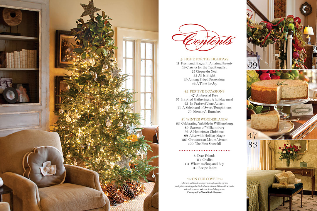 Holiday Bliss 201 Table of Contents Victoria magazine