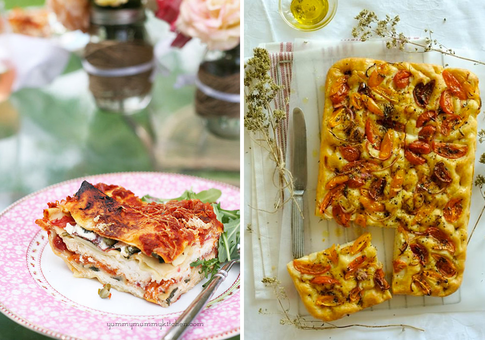 Heirloom Tomato and Greens Lasagna Ladenia with Heirloom Tomatoes Victoria magazine