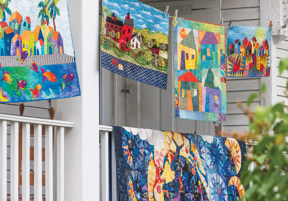 Showcased here are multimedia Judith Reilly's quilted works of art.