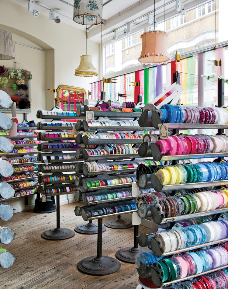 Imagination takes flight in the haberdashery of Annabel Lewis. A range of adornments makes V V Rouleaux the destination of choice for embellishing special objects and occasions.