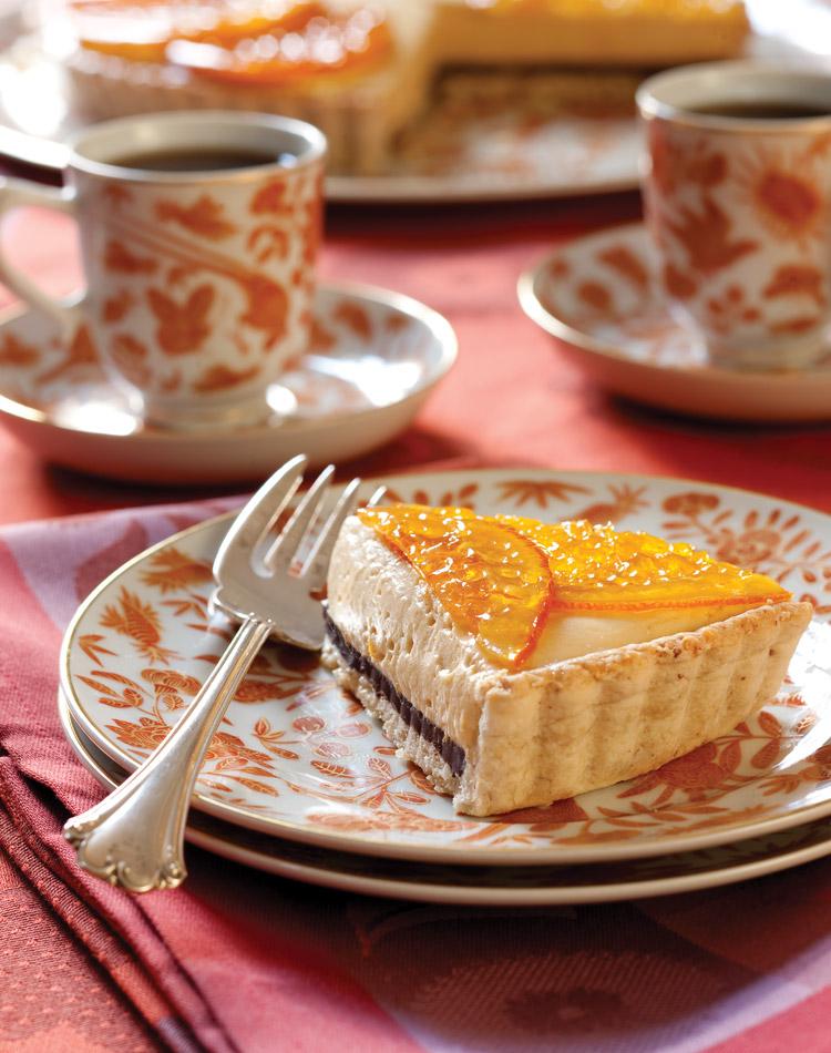 Favorite Fall Recipes Orange Chocolate Caramel Tart