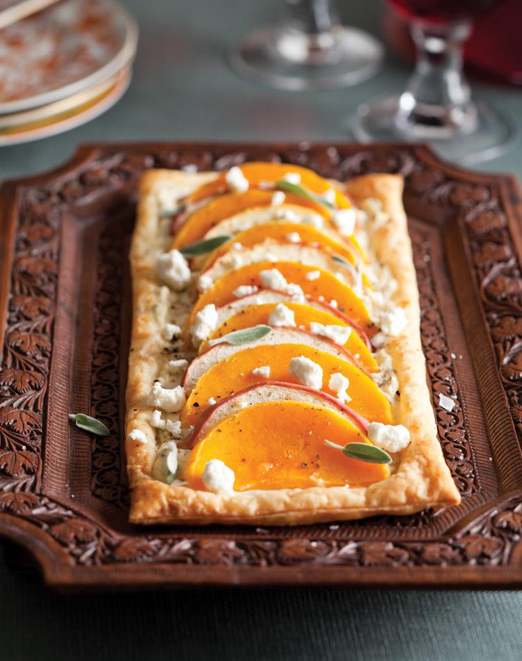 Favorite Fall Recipes Butternut Squash and Apple Tart