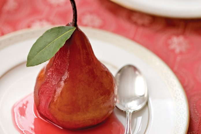 Spiced-Wine-Poached-Pear-Recipe