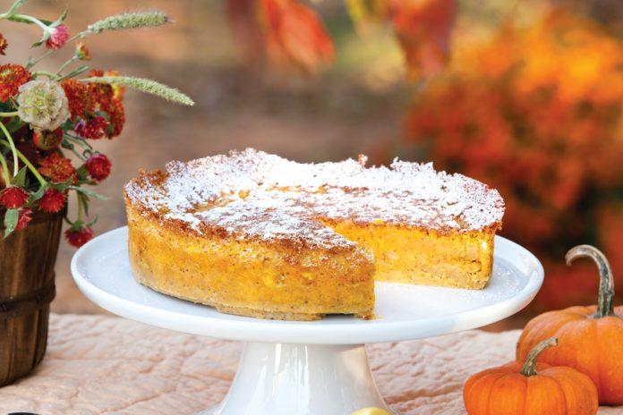 Pumpkin White Chocolate Souffle Cake Victoria magazine