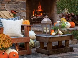 Outdoor Fireplace Victoria magazine