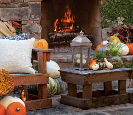 Outdoor Fireplace Victoria magazine