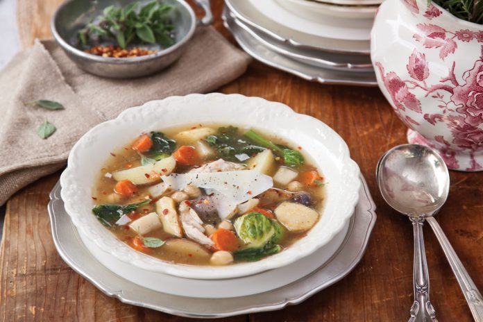 Chicken and Root Vegetable Stew from Victoria magazine