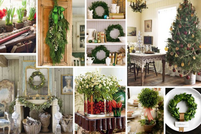 inspired style natural christmas decorations