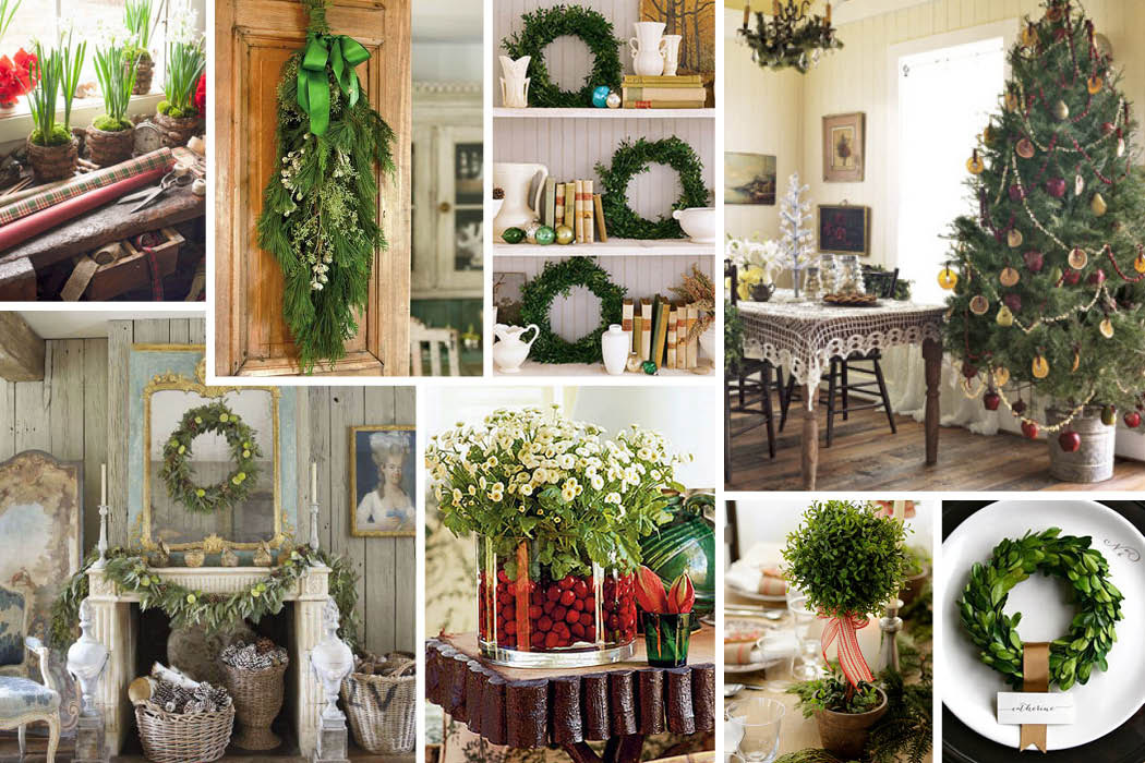 Inspired style natural christmas decorations Natural decorating