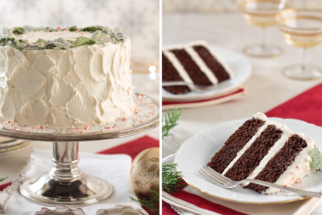 Chocolate Cake With Peppermint Frosting Victoria Magazine
