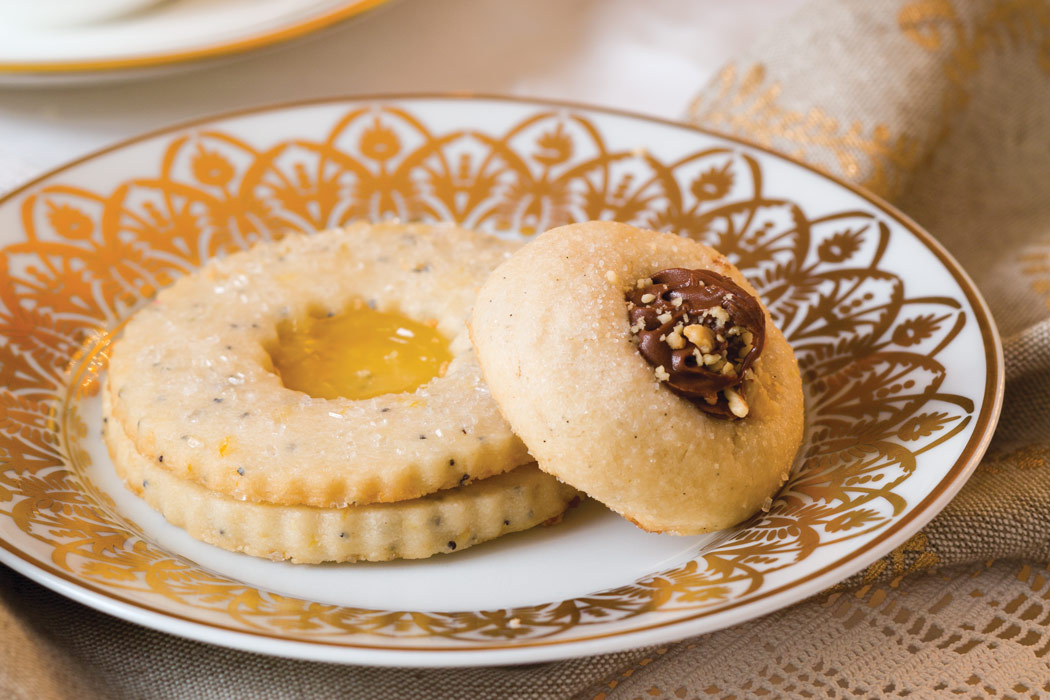 Hazelnut Thumbprint and Lemon-Poppy-Seed Cookies