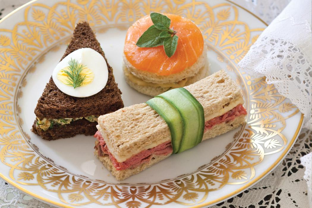 trio of tea sandwiches victoria magazine