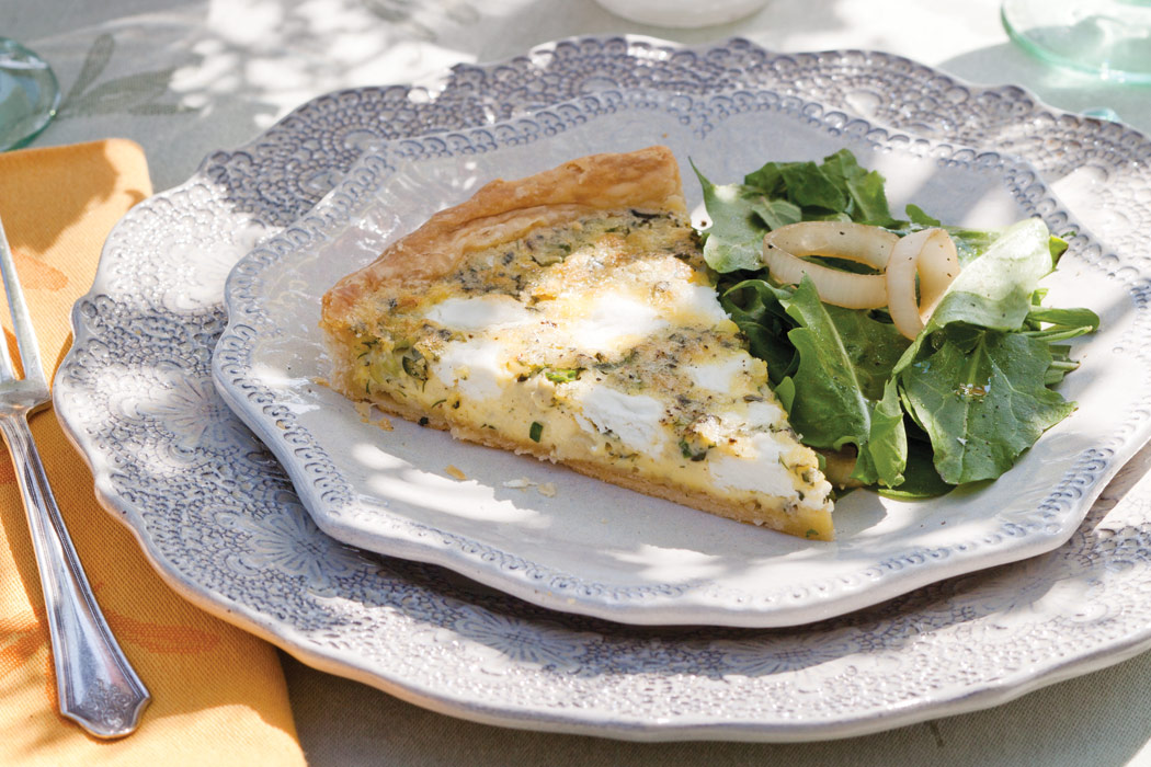 Goat-Cheese- and Spring-Herb Tart - Victoria Magazine