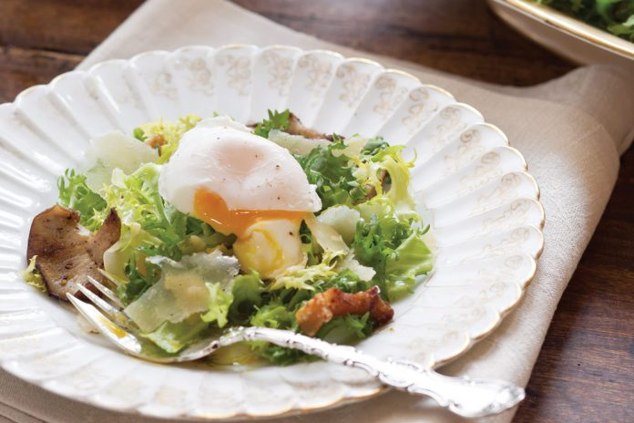 Poached-Egg Salad - Victoria Magazine