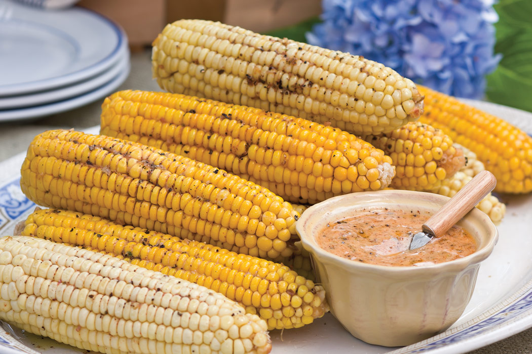 Roasted Corn on the Cob with Chipotle Herbed Butter