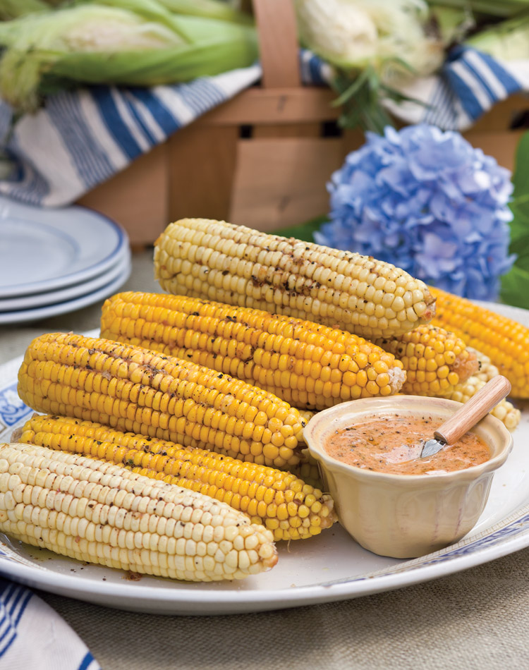 Roasted Corn on the Cob with Chipotle Herb Butter
