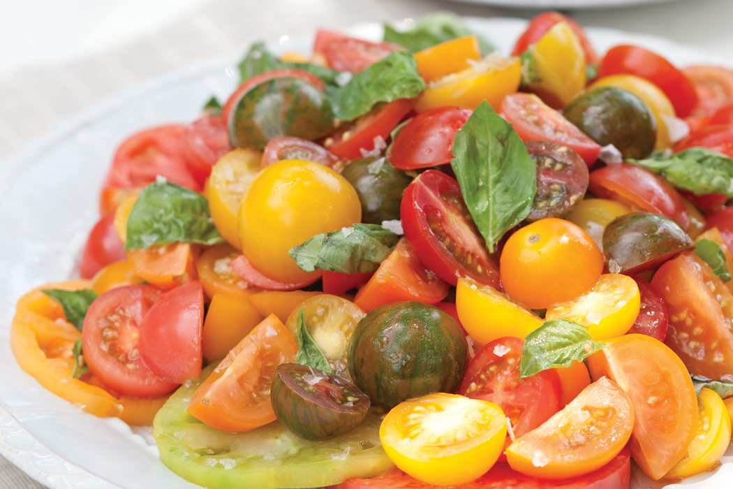 Mixed Heirloom Tomato Salad - Victoria Magazine