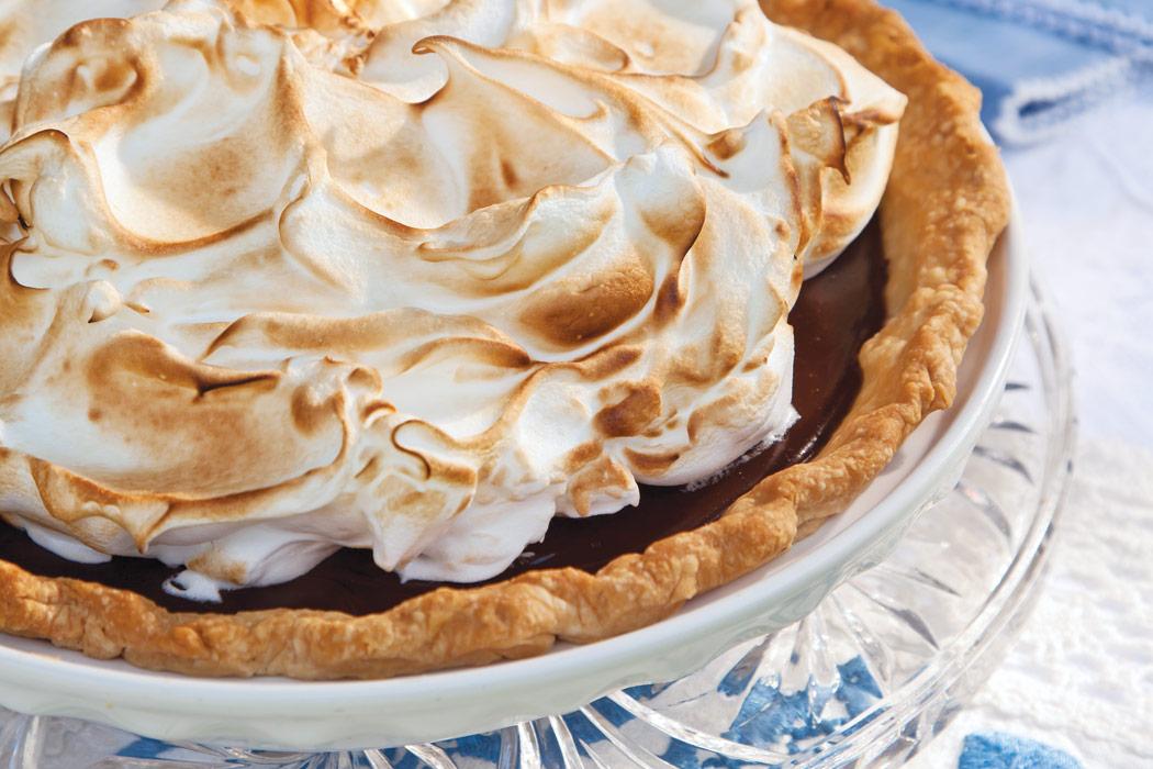Chocolate Meringue Pie Recipe - Victoria Magazine