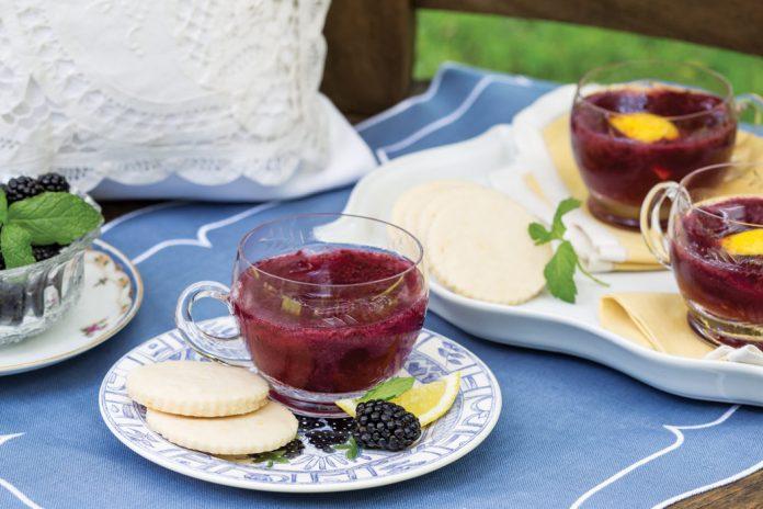 Sample Lemon Butter Cookies alongside tangy Blackberry Lemonade for an afternoon pick-me-up.