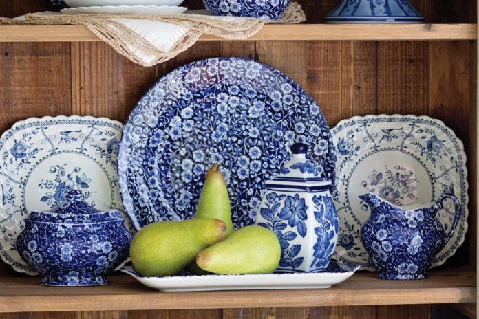 & Prints Charming: Blue Calico by Burleigh
