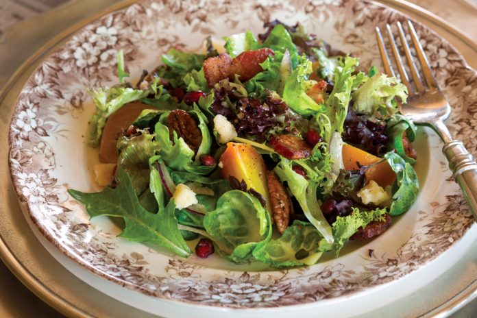 Shaved Brussels Sprouts Salad with Maple Vinaigrette