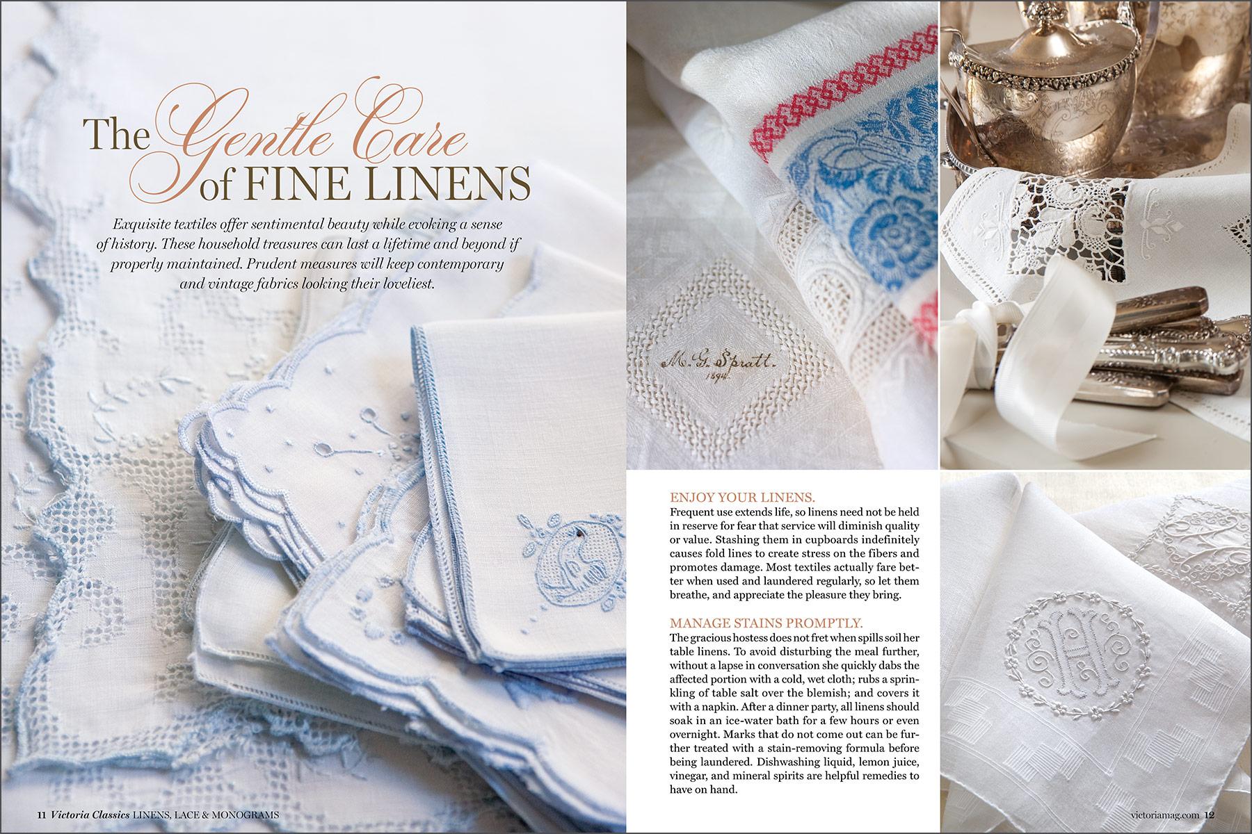 Victoria Classics: Linens, Lace & Monograms