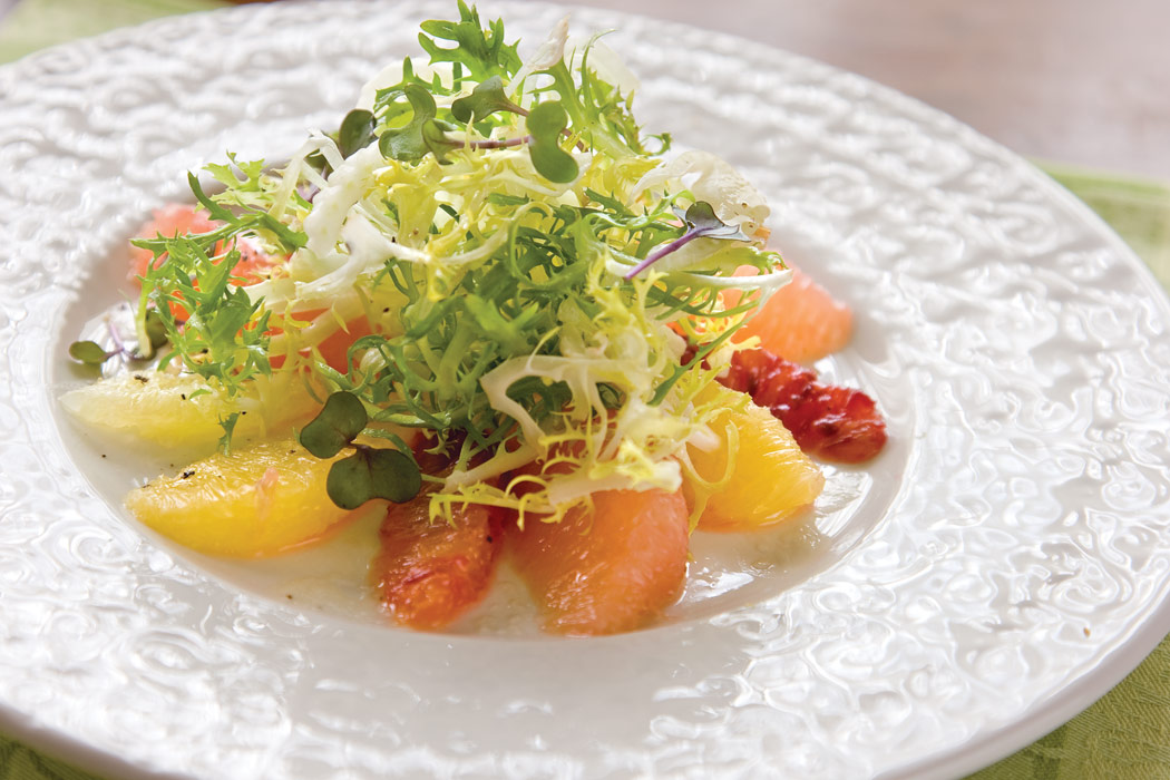 Citrus Salad with Frisée and Orange-Ginger Vinaigrette