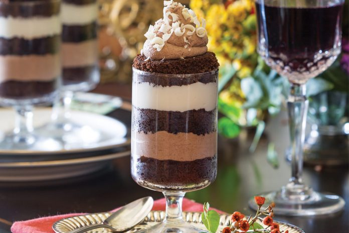Espresso-Chocolate Trifles with Chocolate Mousse