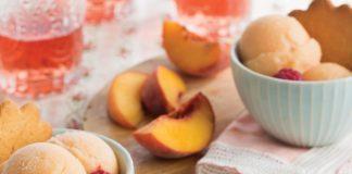 Peach-Rosé Sorbet