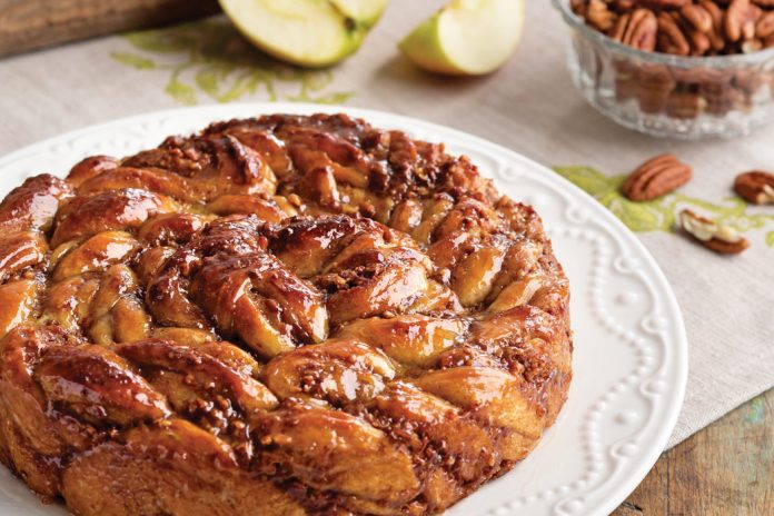 Apple-Pecan Sticky Bread