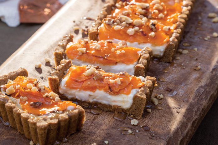 Roasted Butternut Squash Tart with Cinnamon-Molasses Crust