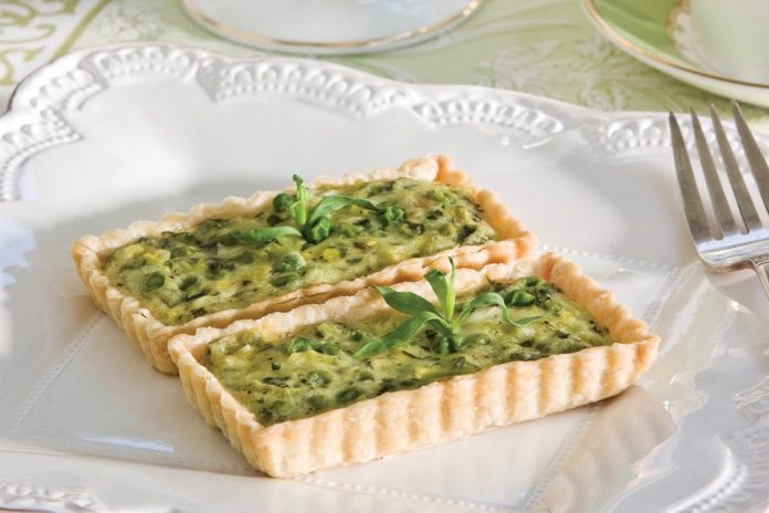 Sweet Pea and Leek Tartlets