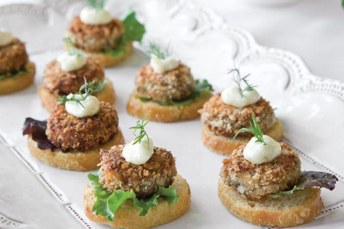 Mini Salmon Croquette Canapés