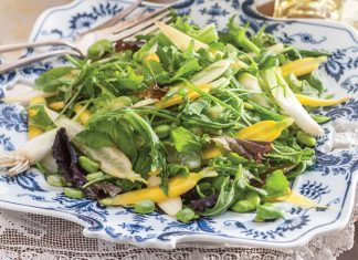 Broad Bean and Green Onion Salad