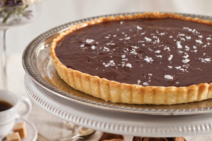 Chocolate-and-Salted-Coffee Caramel Tart