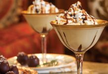 Bourbon Molasses Eggnog with Torched Meringue