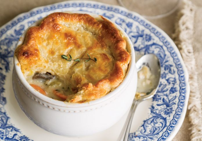 Root Vegetable–Chicken Pot Pie