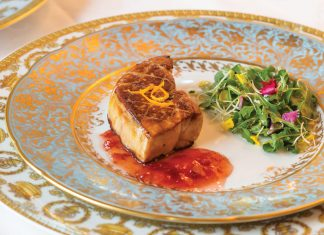 Foie Gras with Sour Cherry Marmalade