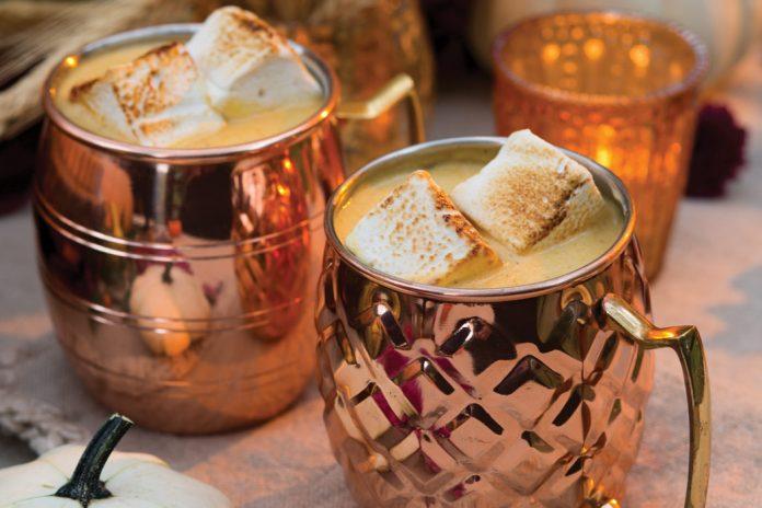 Pumpkin–White Chocolate Hot Chocolate