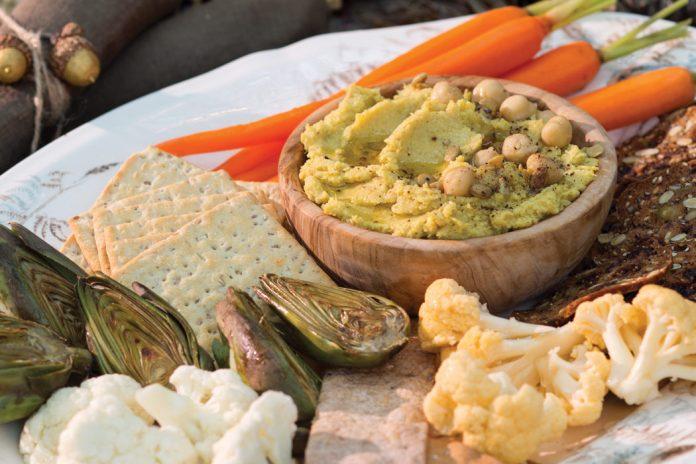 Roasted Cauliflower and Artichoke Hummus
