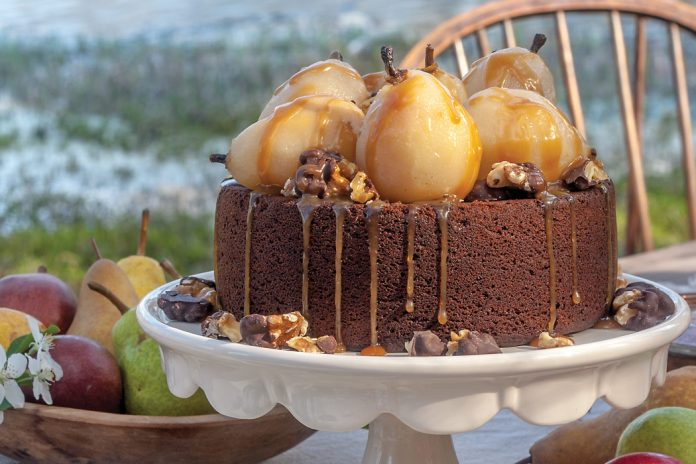 Ginger Cake with Wine-Poached Pears - Victoria